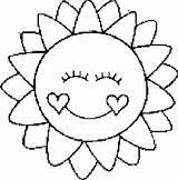 Coloring Sun Printable Sheets Sol sketch template