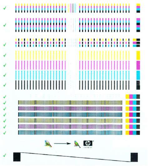 hp color inkjet printer cp internal tests hp