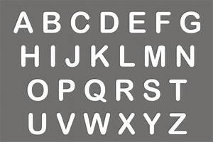 lettering stencils for walls With stencil alphabet letters