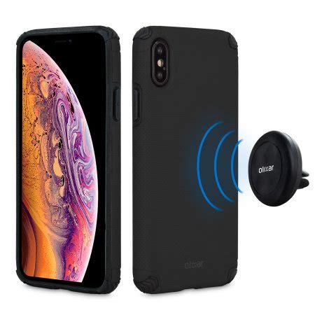 olixar magnus iphone xs max case magnetic car holder