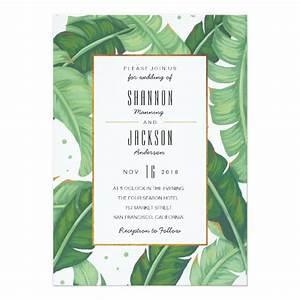 tropical summer wedding invitation zazzlecom With tropical print wedding invitations