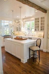 beautiful windows beams floor white kitchen ideas With kitchen colors with white cabinets with custom oval stickers