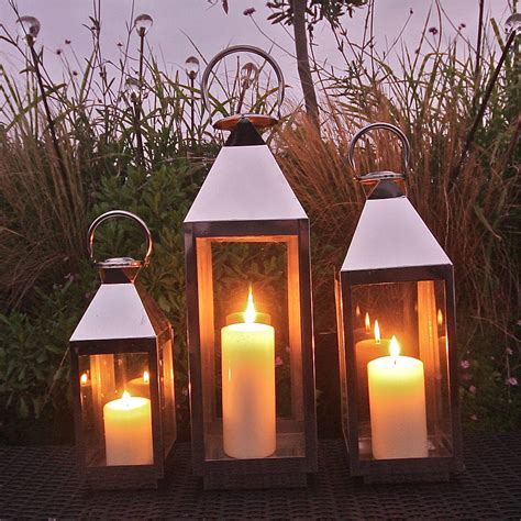 Chrome Candle Lantern by Chrome Outdoor Candle Lanterns Outdoor Lighting Ideas