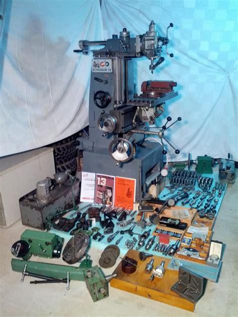 schaublin  precision universal milling machine  accessories