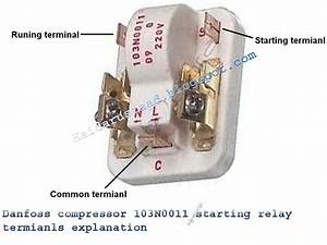 Danfoos Compressor 103n0011 Starting Relay Terminals