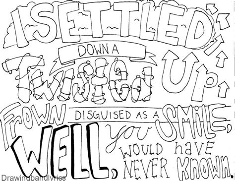 draw band lyrics drawing   lyric drawings