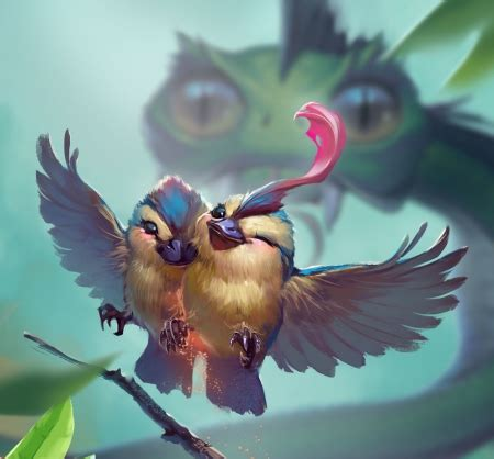 happy birds fantasy abstract background wallpapers