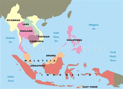 printable map  south east asia  travel information