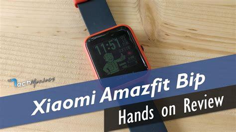 xiaomi amazfit bip hands  review greek youtube