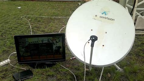 2013 06 10 420 pemasangan ku band di dish telkomvition buat nangkap siaran nss6 dan maesat 3