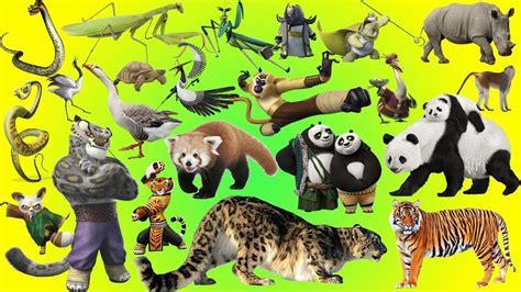 kung fu panda wild animals names  sounds animals