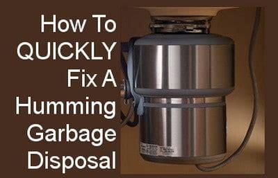 fix  humming garbage disposal fast  easy diy