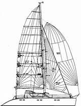 Catamaran Drawing Transom Open Sailing Getdrawings sketch template