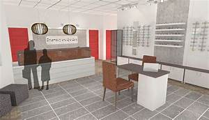 Rendering for optometry office by hatch interior design for Interior decorator kelowna bc