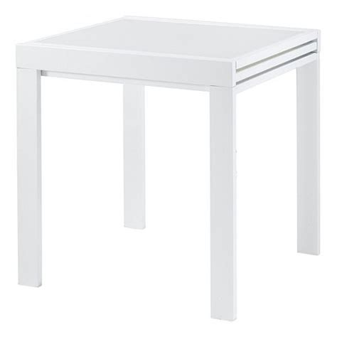 table a manger carree extensible table repas carr 233 e 70 cm extensible julie blanc achat vente table a manger seule table