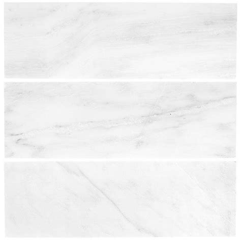 white marble tile jeffrey court carrara 4 in x 12 in honed marble wall