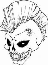 Coloring Pages Skeleton Head Skull Printable Getcolorings sketch template