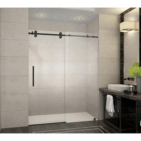 home depot barn door hardware aston langham 60 in x 75 in frameless sliding shower