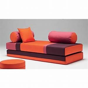 Matelas De Canapé : dulox combo canap convertible en matelas rouge achat vente canap sofa divan cdiscount ~ Teatrodelosmanantiales.com Idées de Décoration