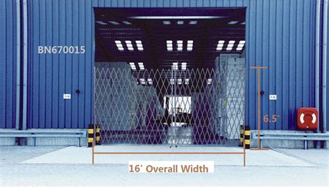 feet opening folding security dock door gates steel collapsible security gate