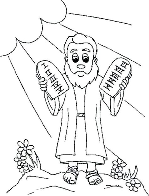 printable ten commandments coloring pages  craft