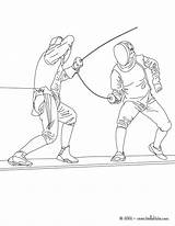 Fencing Coloring Pages Sport Martial Arts Printable Sheets Cartoon Hellokids Sports Drawing Boxing Visit Craft sketch template