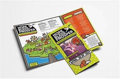 Template Brochure Fold Trifold Christian Festival Templates