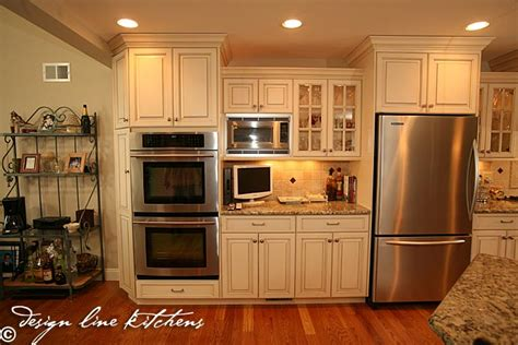 traditionl staggered height cabinets brick nj by design