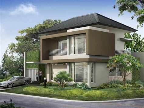 2 Story Minimalist Tropical House - 4 Home Ideas
