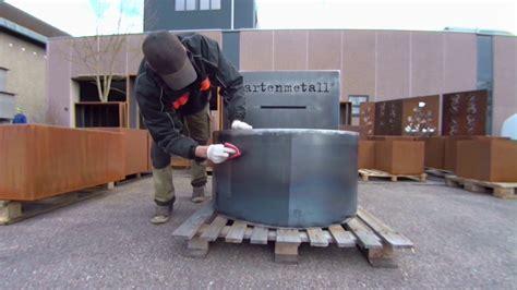 Cortenstahl Schneller Rosten by Gartenmetall Rost