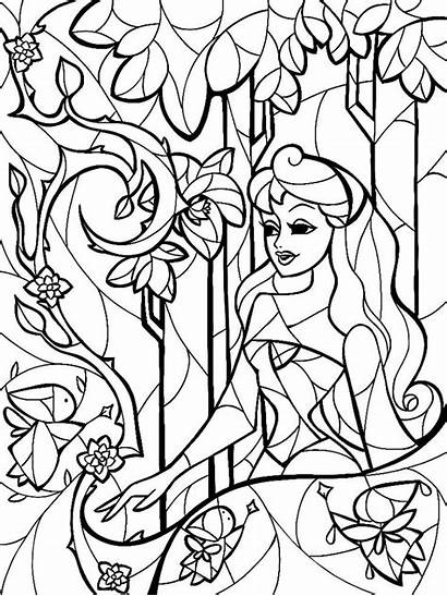 Coloring Stained Glass Pages Beauty Adults Sleeping