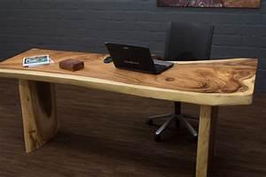 Baumstamm Als Tisch : baumscheiben schreibtisch aus einem suar holz baumstamm ~ Watch28wear.com Haus und Dekorationen