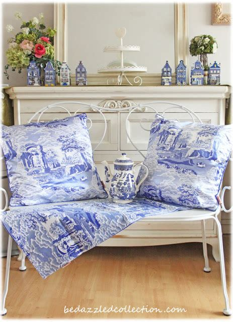 Be Dazzled Collection Spode Blue Italian Cushion And