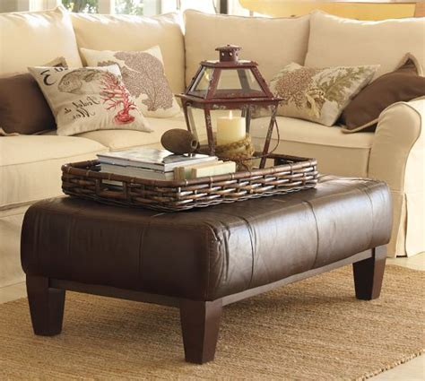 pottery barn leather coffee table leather ottoman coffee table pottery barn home design ideas