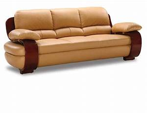 Curvaceous wood framed comfortable leather sofa prime for Comfortable contemporary sectional sofa