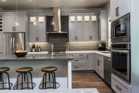 gray kitchen white cabinets grey and white kitchen cabinets with granite countertops