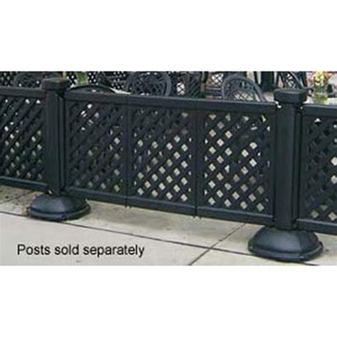 grosfillex portable patio fencing three panel section black