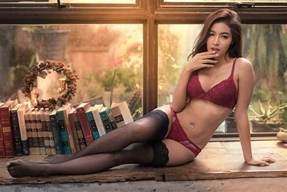Lingerie Bra Panties Koko Leg Stockings Asian