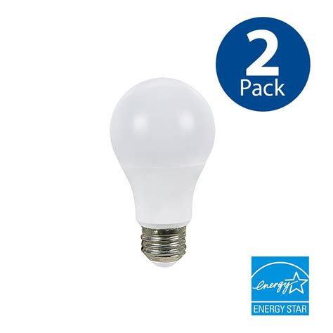 speaker light bulb lowes shop utilitech 2 pack 100w equivalent dimmable soft white