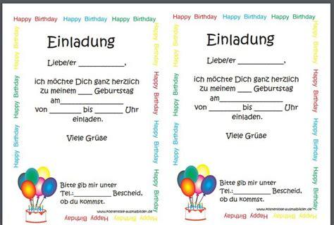 einladungskarten geburtstag vorlagen einladungskarten