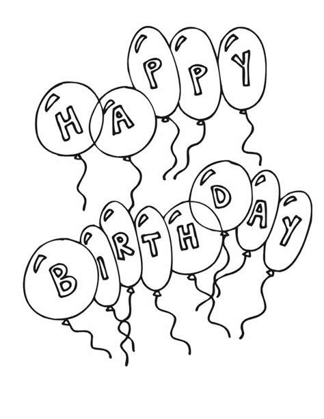 Kleurplaat Met Ballonnen by Kleuren Nu Happy Birthday Ballonnen Kleurplaten