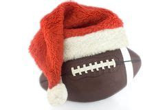 santa claus ready  throw rugby ball stock image image