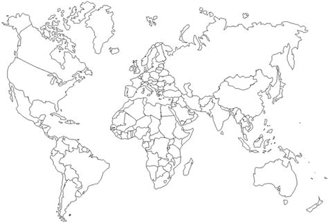 map   world coloring page  printable coloring pages