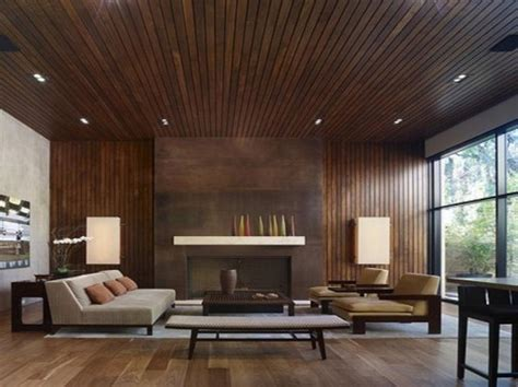 Wohnzimmer Modern Holz by 20 Charming Living Rooms With Wooden Panel Walls Rilane