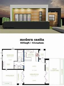 casita plan small modern house plan modern house plans With contemporary one bedroom cottage designs