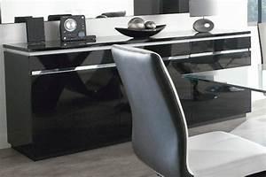Meuble Salon Noir : meuble de salon conforama ~ Teatrodelosmanantiales.com Idées de Décoration