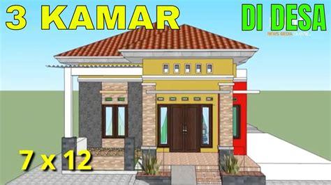desain rumah minimalis modern ukuran  meter  kamar