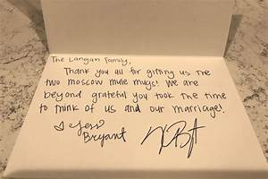 kris bryant is sending thank you notes to fans who sent With thank you notes for wedding gifts