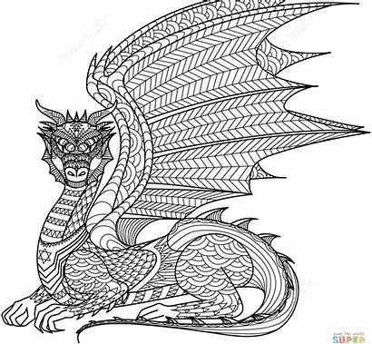 Coloring Pages Zentangle Extreme Wolf Adults Printable