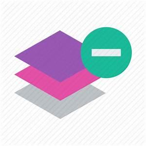 Delete, layer, layers, minus, remove icon | Icon search engine